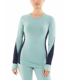 Icebreaker W BodyfitZone™ Merino 260 Zone LS Crewe Thermal Top Hydro / Nightfall tričko