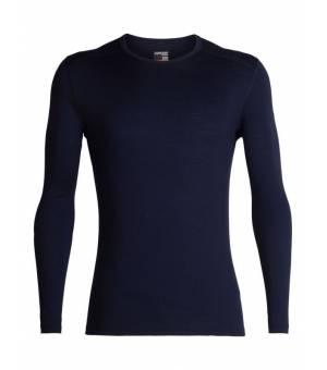 Icebreaker M 200 Oasis LS Crewe Thermal Top Midnight Navy tričko