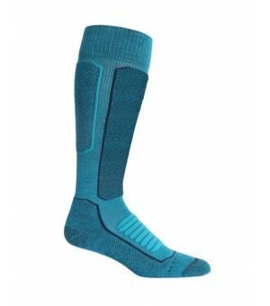 Icebreaker Ski+ Medium Over the Calf Socks Arctic Teal/Midnight Navy ponožky