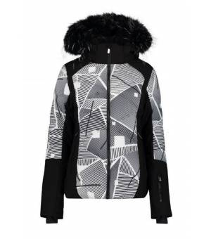 Icepeak Ellis W Jacket Black and White bunda