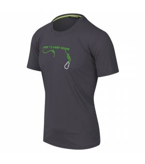 Karpos Loma Print M Jersey dark grey tričko