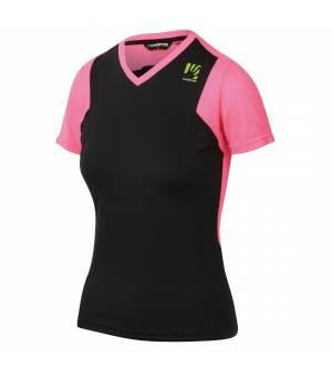 Karpos Giralba W Jersey black/pink fluo tričko