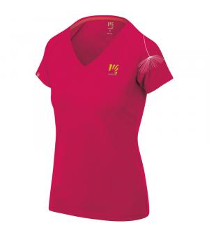 Karpos Genzianella W T-Shirt raspberry/prnt 1 tričko