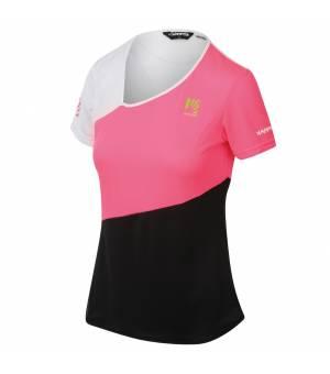 Karpos Cima Undici W Jersey pink fluo/black/white tričko