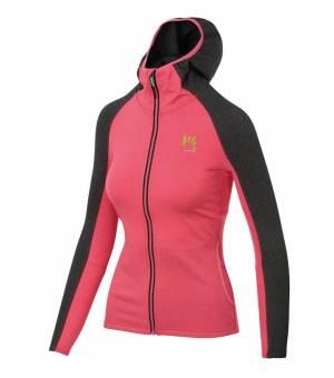Karpos Breezy W Fleece paradise pink/dark grey mikina