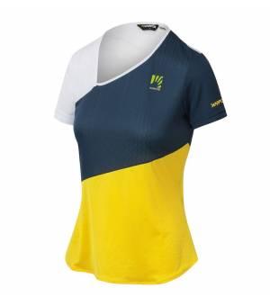 Karpos Cima Undici W Jersey vibrant yellow/insignia blue/white tričko