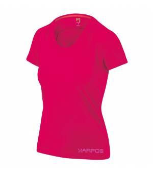 Karpos Botton D'Oro W T-Shirt raspberry/print 2 tričko