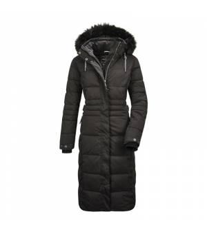 Killtec Ventoso W Quilted Coat Black kabát