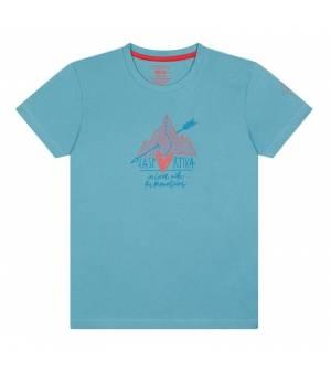 La Sportiva Alakay K T-Shirt hibiscus pacific blue tričko