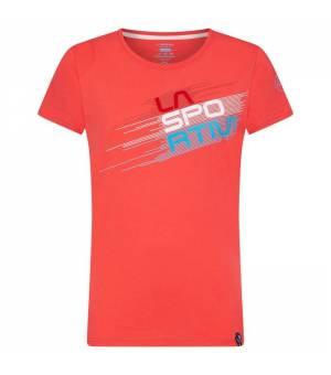 La Sportiva Evo W T-Shirt hibiscus tričko