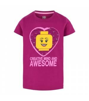 Lego M12010002 T-Shirt S/S Jr Pink tričko