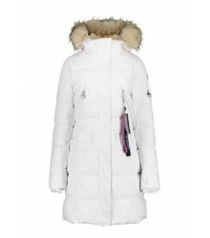 Luhta Eriksby W Coat Eco Fur White kabát