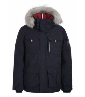 Luhta Jokiranta M Jacket Eco Fur Black Blue bunda