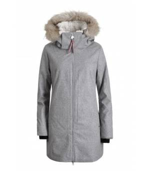 Luhta Edeleine W Jacket Eco Fur Light Grey bunda