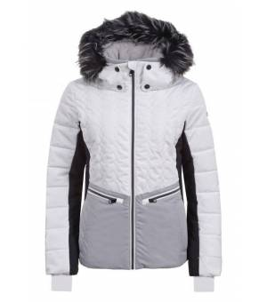 Luhta Emboda W Ski Eco Fur White / Grey Jacket bunda