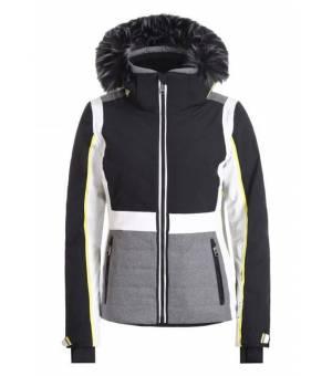 Luhta Ekois W Skijacket Eco Fur Black and White bunda