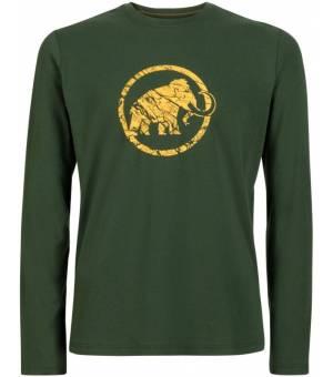 Mammut Logo Longsleeve Green tričko