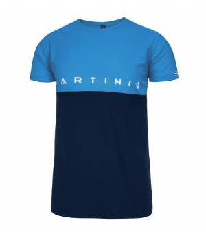 Martini Fusion M T-Shirt Black/ Blue tričko