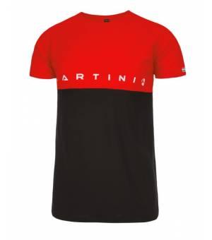 Martini Fusion M T-Shirt Black/ Red tričko