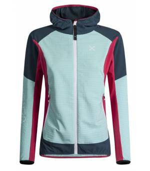 Montura Wind Revolution Hoody Jacket Women Ice Blue/Rosa Sugar bunda