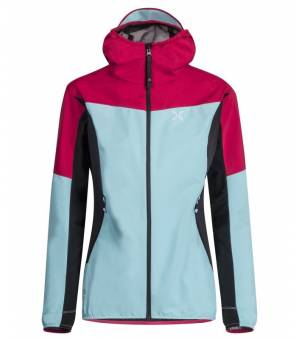 Montura Air Active Hoody Jacket Women Ice Blue/Rosa Sugar bunda