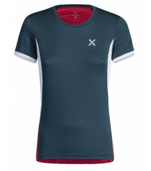 Montura World Mix T-shirt Women Blu Cenere/Rosa Sugar tričko