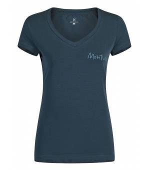 Montura Lotus T-shirts Women Blu Cenere tričko