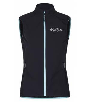 Montura Run Flash Women Vest Nero/Ice Blue vesta