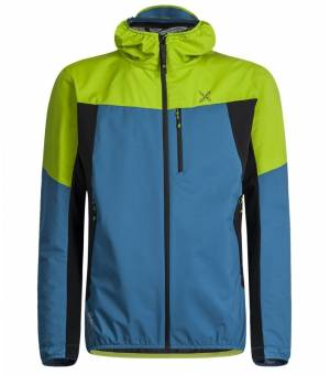 Montura Air Active Hoody M Jacket Blu Ottanio/Verde Acido bunda