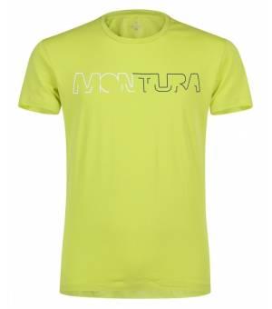Montura Brand M T-shirt Verde Lime/Blu Cenere tričko