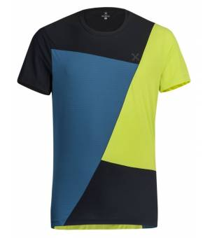 Montura Outdoor Color Block M T-shirt Verde Lime/Blu Ottanio tričko