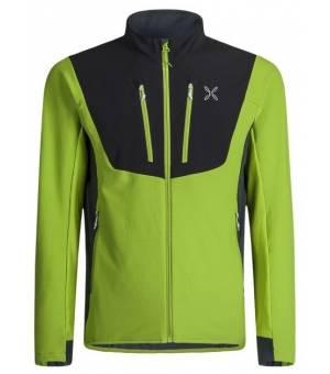 Montura Stretch Pro 2.0 M Jacket verde acido/piombo mikina