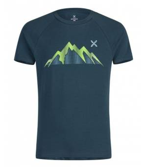 Montura Summit M T-Shirt blu cenere/verde acido tričko