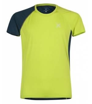 Montura World Mix M T-Shirt verde lime/blu cenere tričko