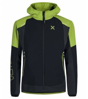 Montura Wind Revolution Hoody M Jacket nero/verde acido bunda