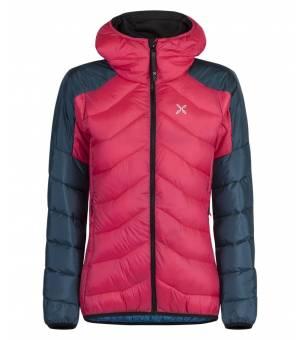 Montura Dust Duvet W Jacket rosa sugar/blu cenere bunda