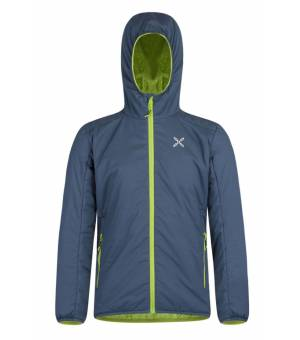 Montura 4 Season K Hoody Jacket blu cenere /verde lime bunda