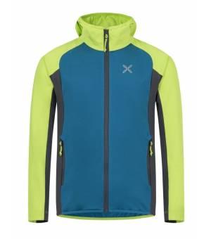 Montura Elevation Maglia K Jacket blu ottanio/verde lime mikina