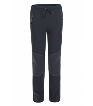 Montura Hiking K Pants nero/rosa sugar nohavice