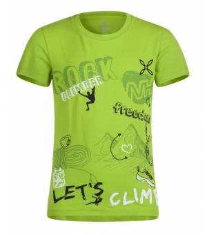 Montura Freedom K T Shirt verde acido/bianco tričko