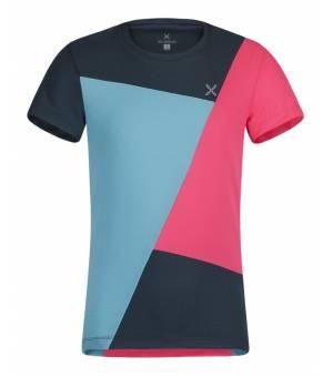 Montura Outdoor Color Block K T-Shirt ice blue/rosa sugar fluo tričko