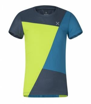 Montura Outdoor Color Block K T-Shirt verde lime/blu cenere tričko