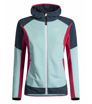 Montura Wind Revolution W Hoody Jacket ice blue/rosa sugar bunda