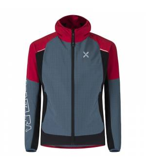 Montura Wind Revolution M Hoody Jacket blu cenere/rosso bunda