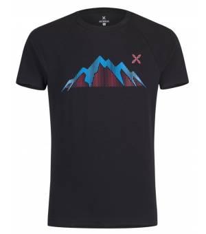 Montura Summit M T-Shirt nero/blu ottanio tričko