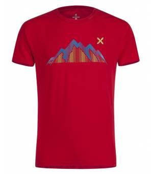 Montura Summit M T-Shirt rosso/blu ottanio tričko