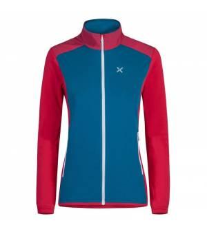 Montura Stretch Pro 2.0 W Jacket blu ottanio/rosa sugar mikina