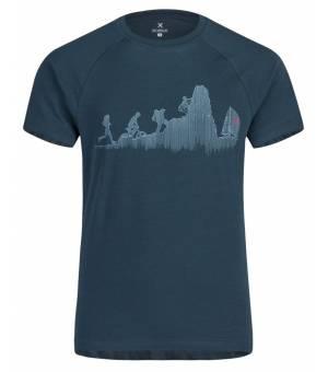 Montura Sporty M T-Shirt blu cenere tričko