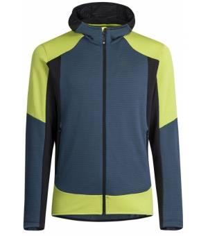Montura Stretch Color Hoody Jacket M blue cenere/verde lime bunda