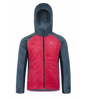 Montura Soft Pile Color Jacket Kids Rosa sugar/blu cenere bunda
